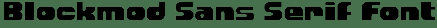 Blockmod Sans Serif Font