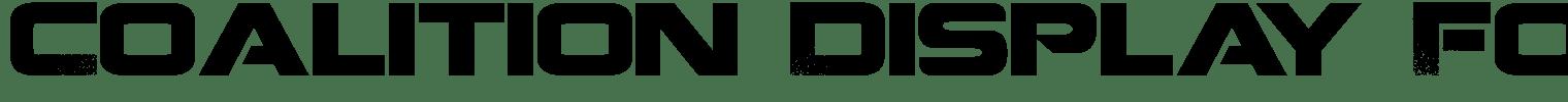 Coalition Display Font