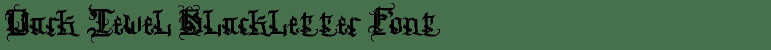 Dark Jewel Blackletter Font