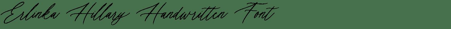 Erlinka Hillary Handwritten Font