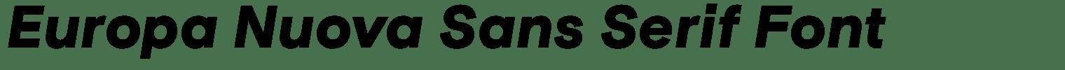 Europa Nuova Sans Serif Font