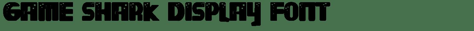 Game Shark Display Font