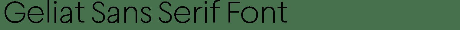 Geliat Sans Serif Font