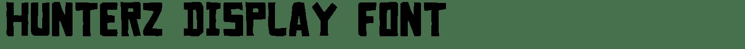 Hunterz Display Font
