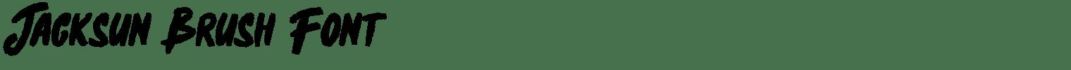 Jacksun Brush Font