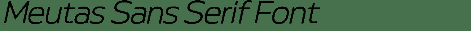 Meutas Sans Serif Font