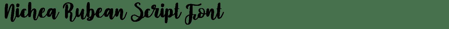 Nichea Rubean Script Font