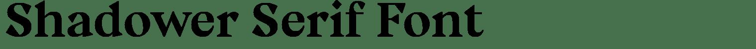 Shadower Serif Font