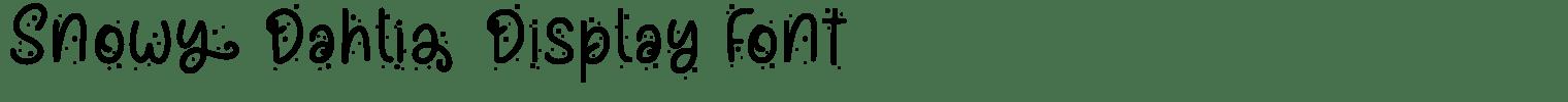 Snowy Dahlia Display Font