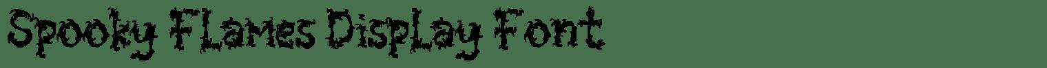 Spooky Flames Display Font