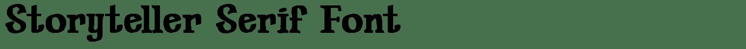 Storyteller Serif Font