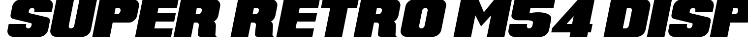 Super Retro M54 Display Font
