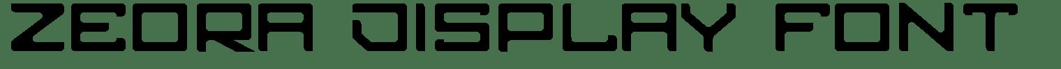 Zeora Display Font