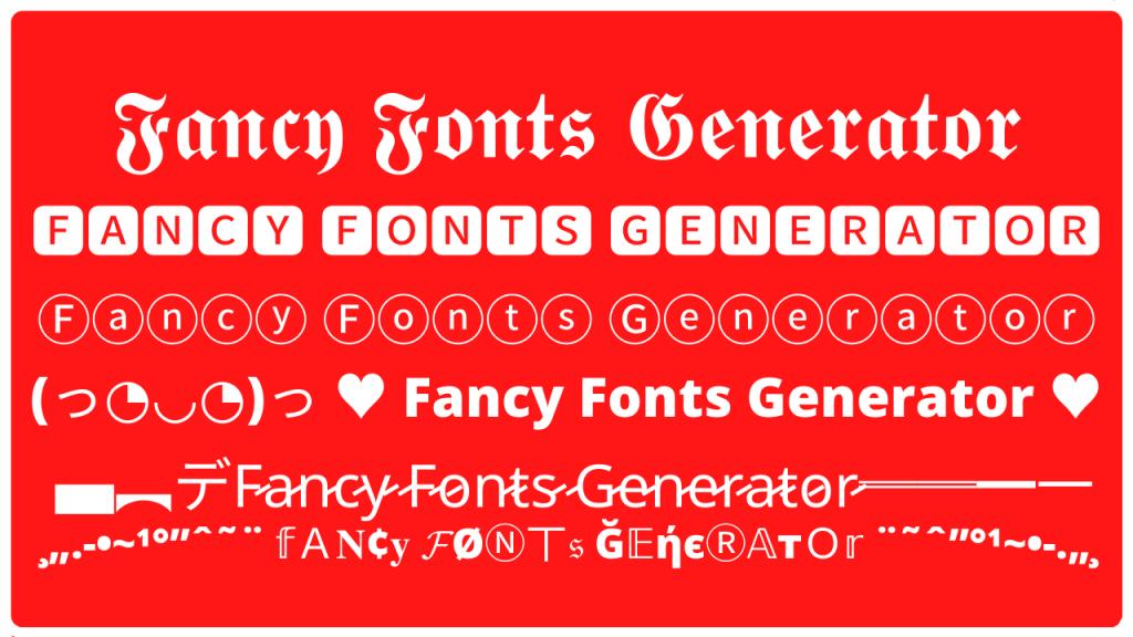 Fancy Fonts Generator