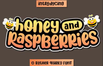honey-and-raspberries