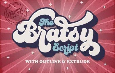 bratsy-retro-font