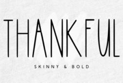 thankful-font