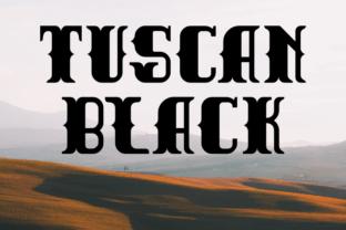 tuscan-black-font