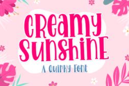 creamy-sunshine-font