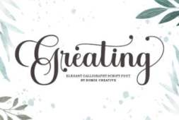 greating-font
