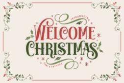 welcome-christmas-font