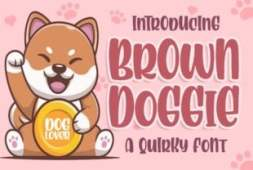 brown-doggie-font