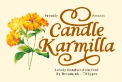 candle-karmilla-font