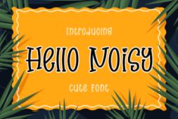 hello-noisy-font