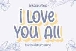 i-love-you-all-font