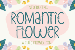 romantic-flower-font