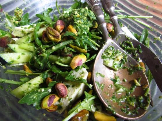 Arugula Pesto Summer Salad_VedaWise