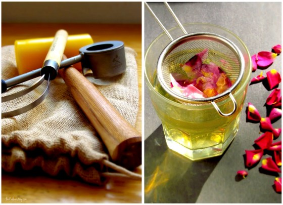 how to open a coconut + how to make rose tea