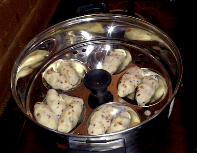 steaming-rice-dal-dumplings