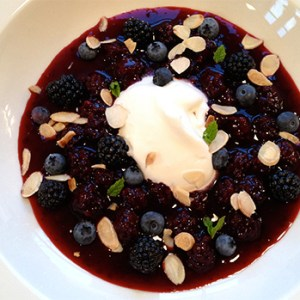 blue berry pudding