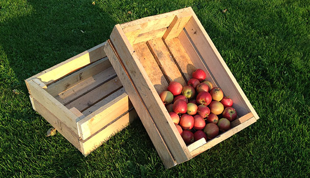 Homemade wooden boxes