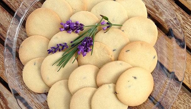 Lavender shortbread biscuits