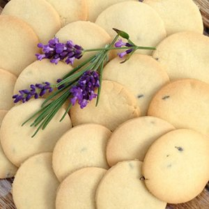 Lavender shortbread biscuits