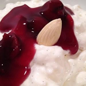 Risalamande, a Danish Christmas dessert
