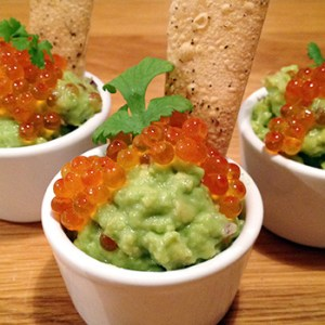 Avocado with trout roe