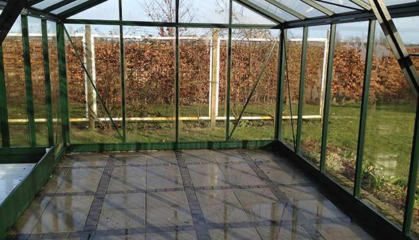 Freshly cleaned greenhouse
