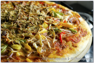 Homestyle Salami & Peppers Pizza 2: with Home-made Sauce