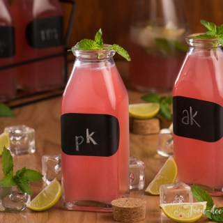 Pink Lemonade with Fresh Mint