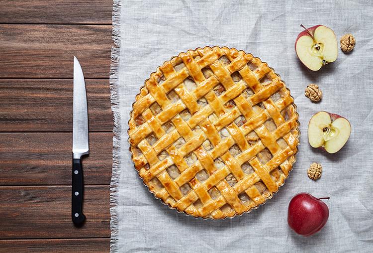 Opskrift på Bedstemors Æbletærte
