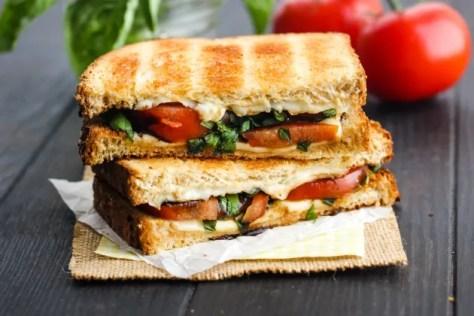 Toasted Caprese Sandwich Photo