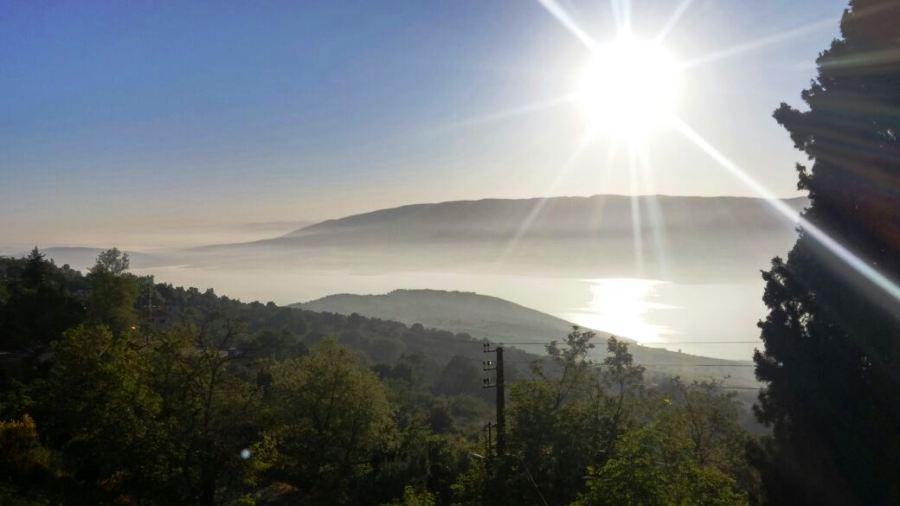 Wake up to the most beautiful view of Lake Qaraoun