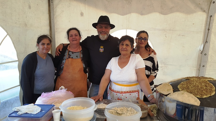 Chef Barza with the ladies from Miniara