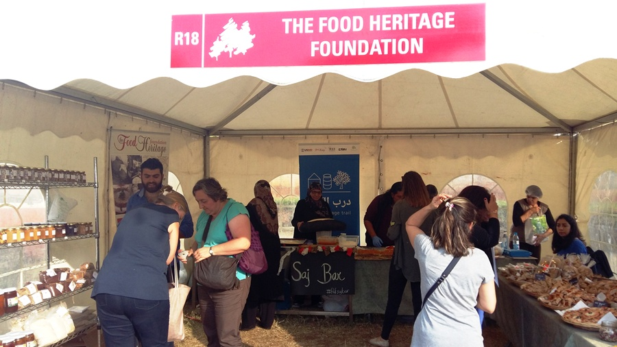 The Food Heritage Foundation tent in Travel Lebanon 2016