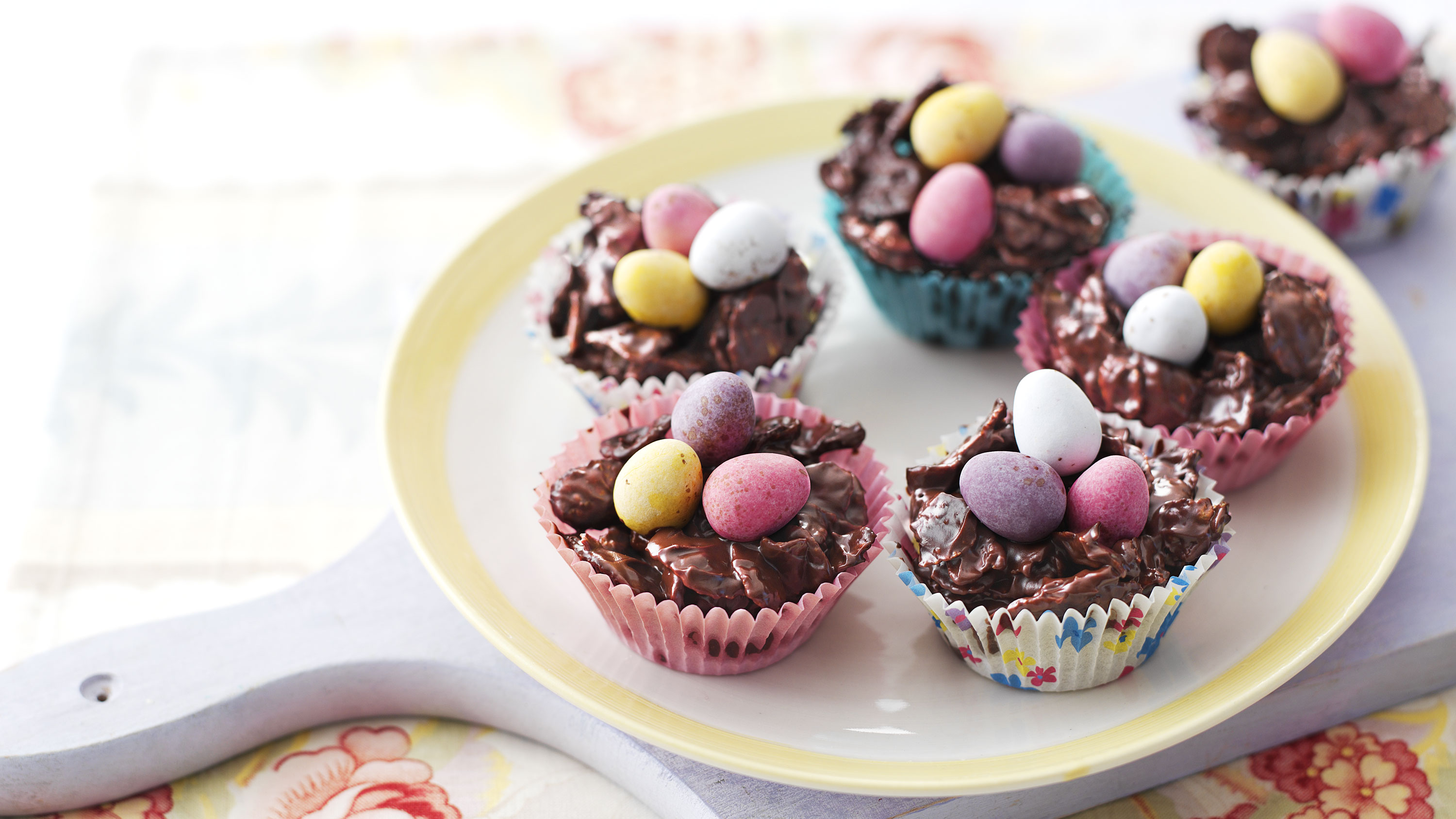 Chocolate Easter Nests Recipe Bbc Food