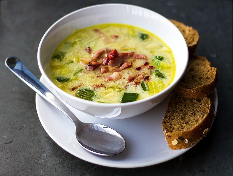 Голландский горчичный суп с беконом