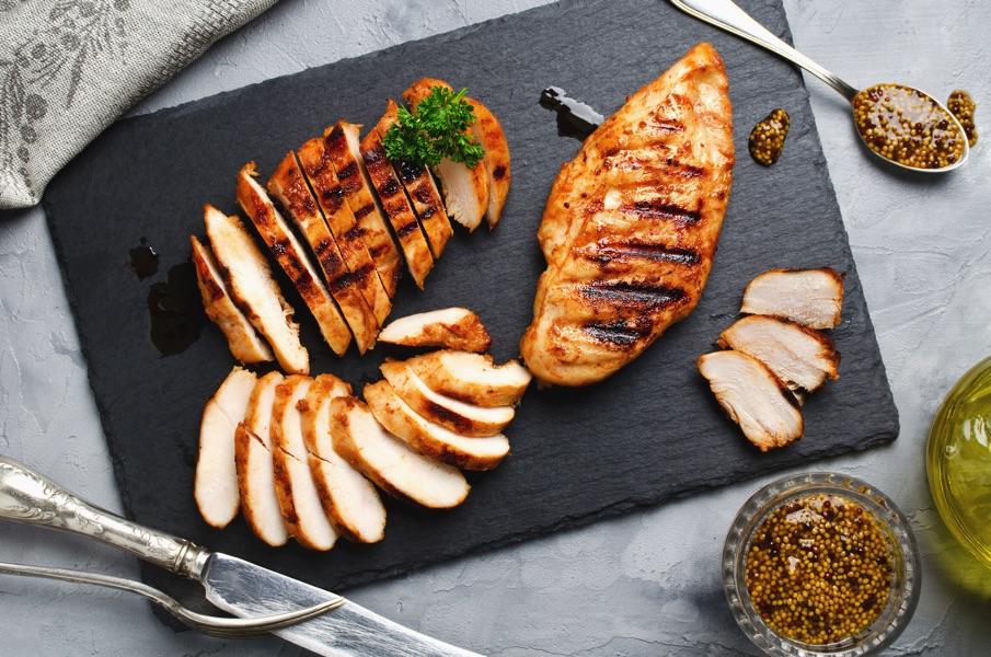 Куриное филе на сковороде-гриль